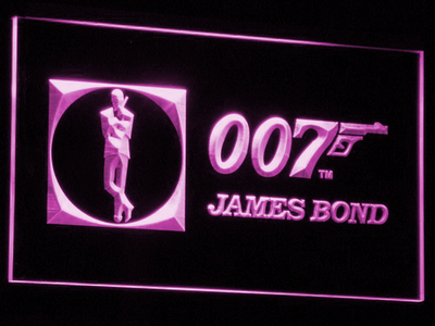 James Bond 007 LED Neon Sign - Purple - SafeSpecial