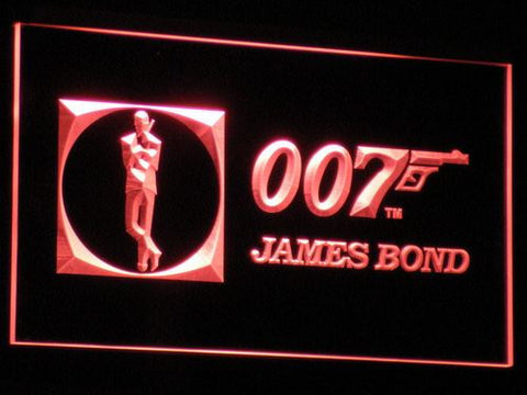 Image of James Bond 007 LED Neon Sign - Red - SafeSpecial