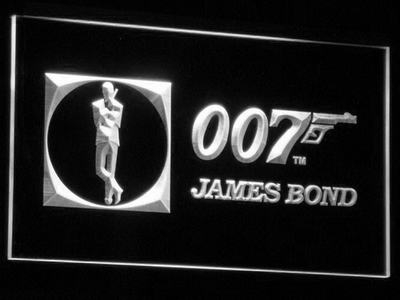 James Bond 007 LED Neon Sign - White - SafeSpecial