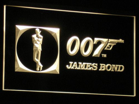 Image of James Bond 007 LED Neon Sign - Yellow - SafeSpecial