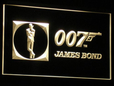 James Bond 007 LED Neon Sign - Yellow - SafeSpecial