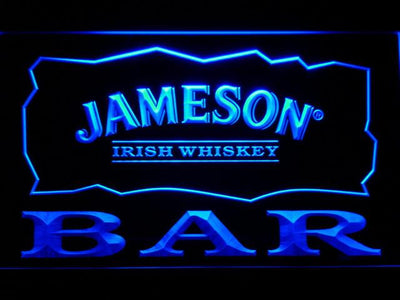 Jameson Bar LED Neon Sign - Blue - SafeSpecial