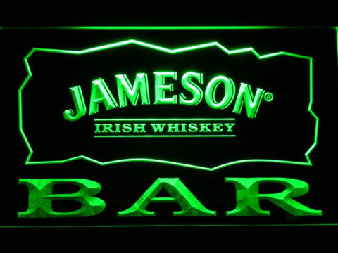 Image of Jameson Bar LED Neon Sign - Green - SafeSpecial