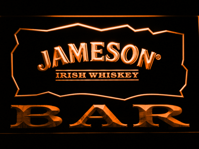 Jameson Bar LED Neon Sign - Orange - SafeSpecial