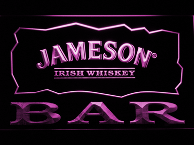 Jameson Bar LED Neon Sign - Purple - SafeSpecial
