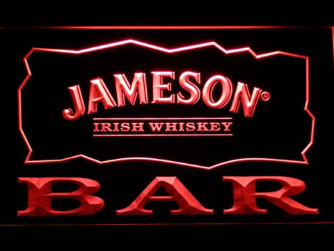 Image of Jameson Bar LED Neon Sign - Red - SafeSpecial