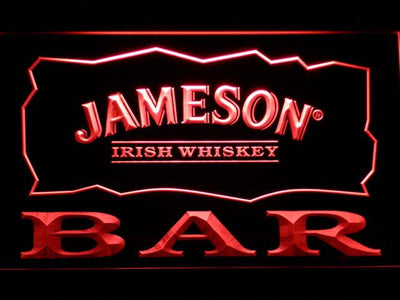 Jameson Bar LED Neon Sign - Red - SafeSpecial