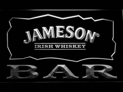 Jameson Bar LED Neon Sign - White - SafeSpecial