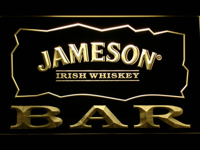 Jameson Bar LED Neon Sign - Yellow - SafeSpecial