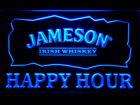 Image of Jameson Happy Hour LED Neon Sign - Blue - SafeSpecial