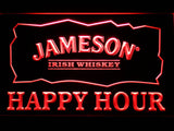 Jameson Happy Hour LED Neon Sign - Red - SafeSpecial