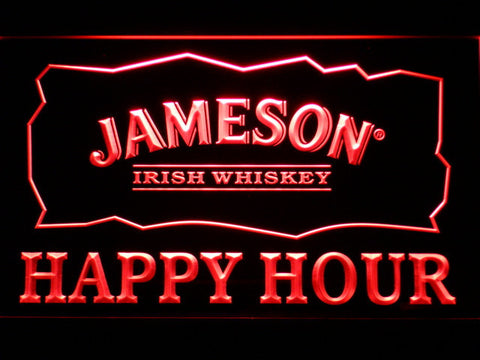Image of Jameson Happy Hour LED Neon Sign - Red - SafeSpecial