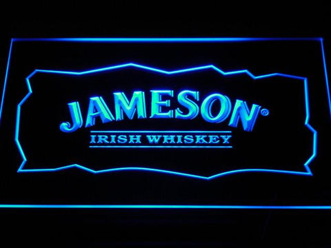 Image of Jameson LED Neon Sign - Blue - SafeSpecial