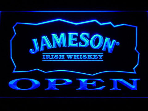 Image of Jameson Open LED Neon Sign - Blue - SafeSpecial