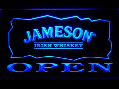 Jameson Open LED Neon Sign - Blue - SafeSpecial
