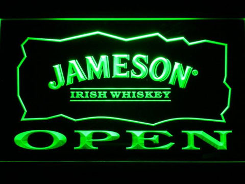 Image of Jameson Open LED Neon Sign - Green - SafeSpecial