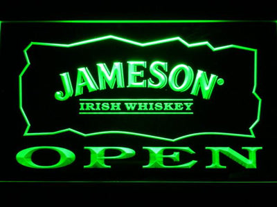 Jameson Open LED Neon Sign - Green - SafeSpecial