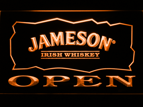 Image of Jameson Open LED Neon Sign - Orange - SafeSpecial