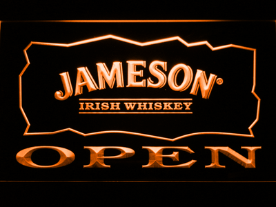Jameson Open LED Neon Sign - Orange - SafeSpecial