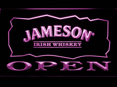 Jameson Open LED Neon Sign - Purple - SafeSpecial