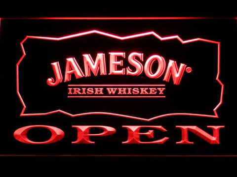 Image of Jameson Open LED Neon Sign - Red - SafeSpecial