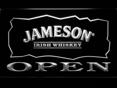Jameson Open LED Neon Sign - White - SafeSpecial