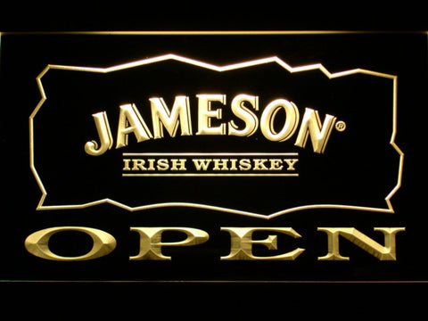 Image of Jameson Open LED Neon Sign - Yellow - SafeSpecial