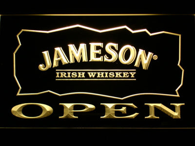 Jameson Open LED Neon Sign - Yellow - SafeSpecial
