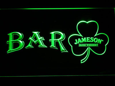 Jameson Shamrock Bar LED Neon Sign - Green - SafeSpecial