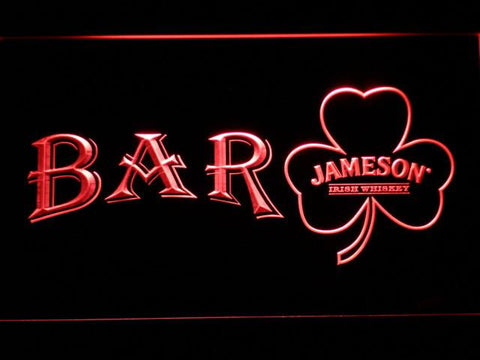 Image of Jameson Shamrock Bar LED Neon Sign - Red - SafeSpecial