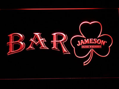 Jameson Shamrock Bar LED Neon Sign - Red - SafeSpecial