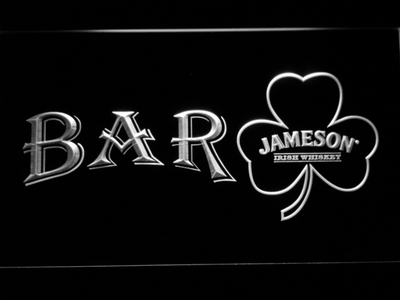 Jameson Shamrock Bar LED Neon Sign - White - SafeSpecial
