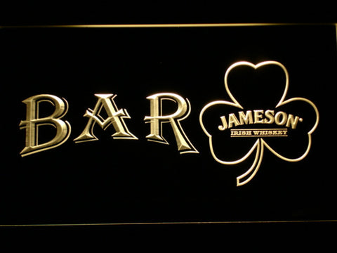 Image of Jameson Shamrock Bar LED Neon Sign - Yellow - SafeSpecial