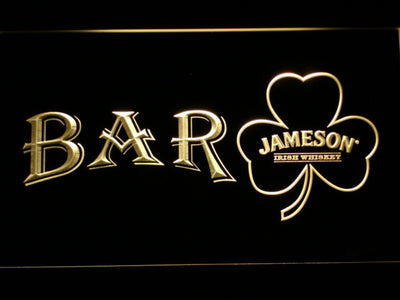 Jameson Shamrock Bar LED Neon Sign - Yellow - SafeSpecial