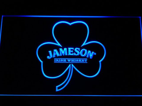 Jameson Shamrock LED Neon Sign - Blue - SafeSpecial