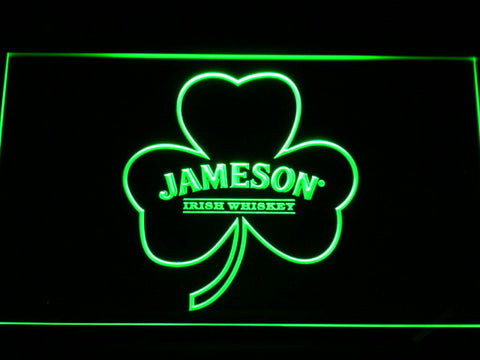 Jameson Shamrock LED Neon Sign - Green - SafeSpecial