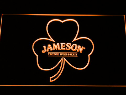 Jameson Shamrock LED Neon Sign - Orange - SafeSpecial