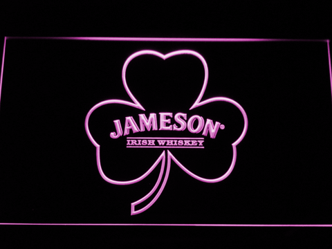 Jameson Shamrock LED Neon Sign - Purple - SafeSpecial