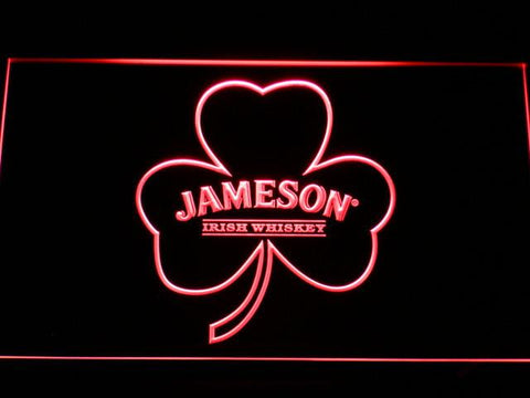 Jameson Shamrock LED Neon Sign - Red - SafeSpecial