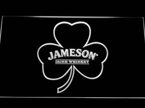 Jameson Shamrock LED Neon Sign - White - SafeSpecial