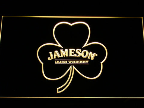 Jameson Shamrock LED Neon Sign - Yellow - SafeSpecial