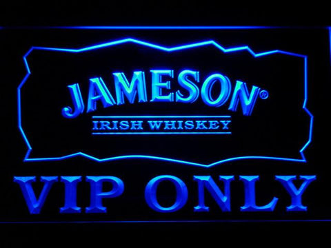 Jameson VIP Only LED Neon Sign - Blue - SafeSpecial