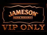 Jameson VIP Only LED Neon Sign - Orange - SafeSpecial