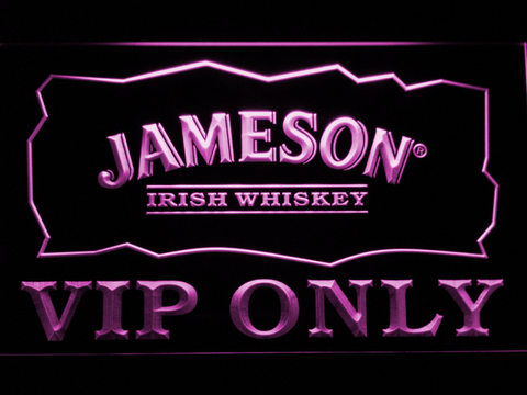 Jameson VIP Only LED Neon Sign - Purple - SafeSpecial