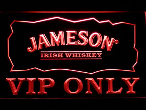 Jameson VIP Only LED Neon Sign - Red - SafeSpecial