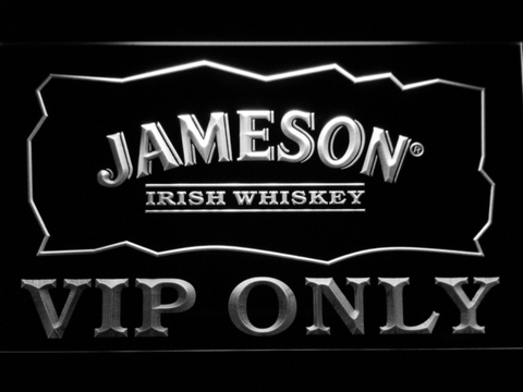 Jameson VIP Only LED Neon Sign - White - SafeSpecial