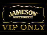 Jameson VIP Only LED Neon Sign - Yellow - SafeSpecial