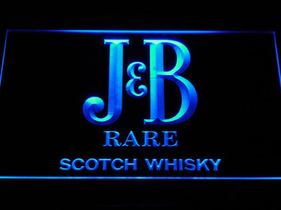 J&B Rare LED Neon Sign - Blue - SafeSpecial