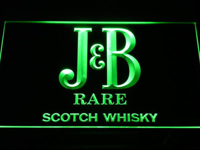 J&B Rare LED Neon Sign - Green - SafeSpecial