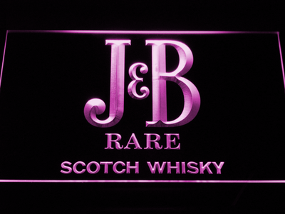 J&B Rare LED Neon Sign - Purple - SafeSpecial